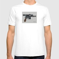 Shoot First. Mens Fitted Tee White SMALL