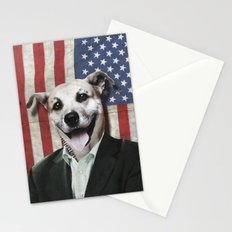 Patriotic Dog   USA Stationery Cards