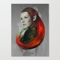Head Of Elven Canvas Print