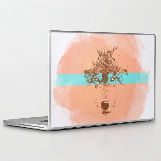 The Blue Eyed Wolf Laptop & iPad Skin