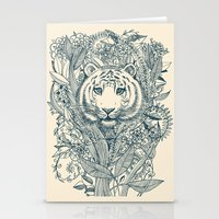 tiger Stationery Cards featuring Tiger Tangle by micklyn