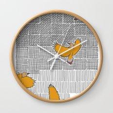 Pencil Birds Wall Clock