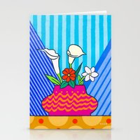 Four Flowers Stationery Cards