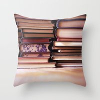 Vintage Pages Throw Pillow