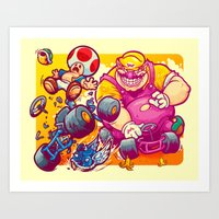 Beware The Blue Shell Art Print