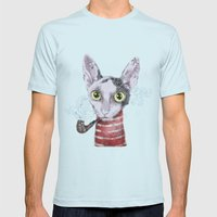 Mr.Rex Mens Fitted Tee Light Blue SMALL