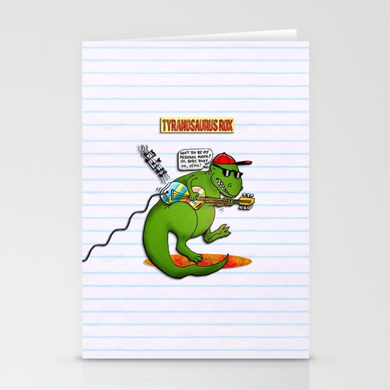 Jurassic Rock Stationery Card