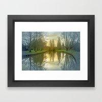 TREE-FLECTED Framed Art Print