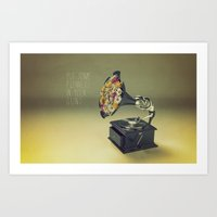 put some flowers in your guns Art Print
