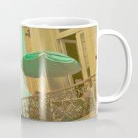 Vintage Turquoise Summer Umbrella (Retro and Vintage Urban Photography)  Mug