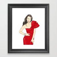Girl In Style Framed Art Print