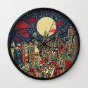 philadelphia city skyline Wall Clock