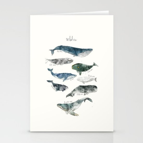 Whales Stationery Card