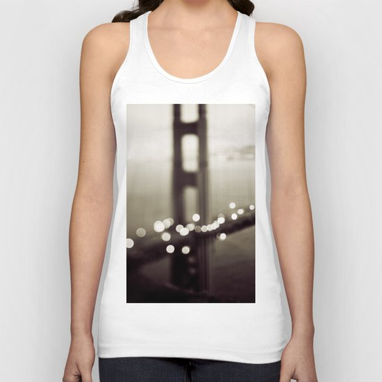 Meet Me In San Francisco (Black and White Edition)  Unisex Tank Top