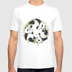 Panda dreams White SMALL Mens Fitted Tee