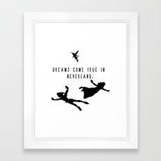 Dreams Come True In Neverland. Framed Art Print