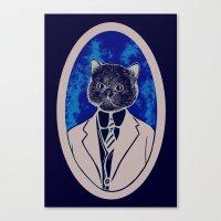 Sir Kitty Canvas Print
