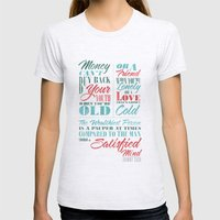 Satisfied Mind Womens Fitted Tee Ash Grey SMALL