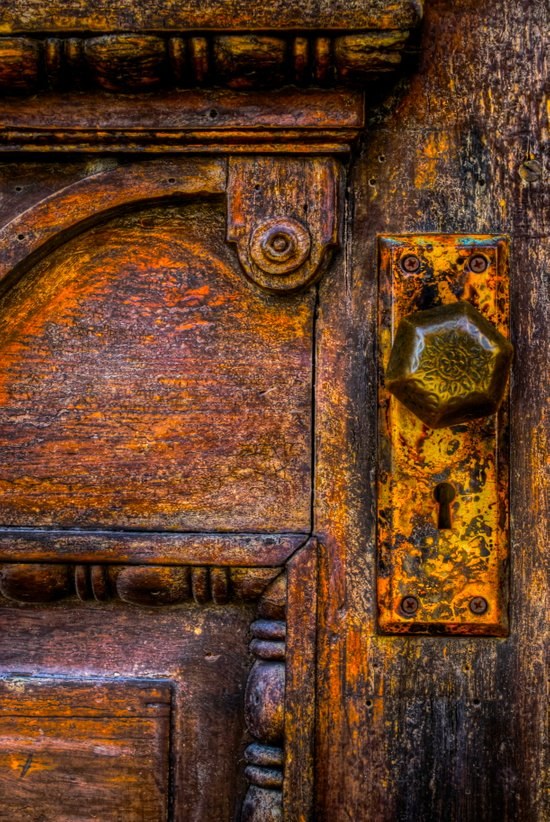 Vintage Door Knobs Art Print