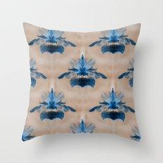 Iris In Blue... Throw Pillow