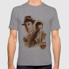 MAD MEN DON DRAPER Mens Fitted Tee Athletic Grey SMALL