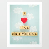 I Heart The Universe Art Print