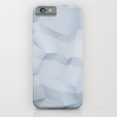 Facets - White and dark blue iPhone 6s Slim Case