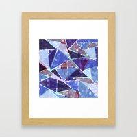 Sparkle Geometric Framed Art Print