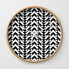 Geometric Chevrons Wall Clock