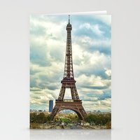 Dramatic Eiffel  Stationery Cards