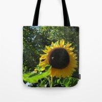 Sunflower N Bee Tote Bag