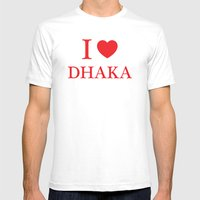 I Love Dhaka Mens Fitted Tee White SMALL