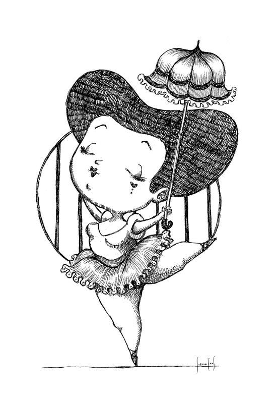 Chubbie Ballerina Art Print
