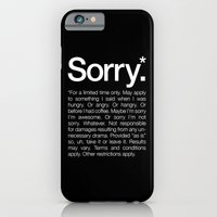 iPhone & iPod Case featuring Sorry.* For a limited time only. by WORDS BRAND™