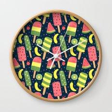 Fancy Popsicle Pattern Wall Clock