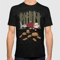LumberJack Shark Mens Fitted Tee Tri-Black SMALL