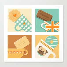 Tea and Biscuits Canvas Print