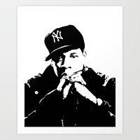 Jay-Z Art Print