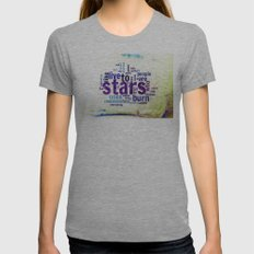 ON THE ROAD II Womens Fitted Tee Athletic Grey SMALL
