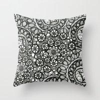 Doily Collection Throw Pillow