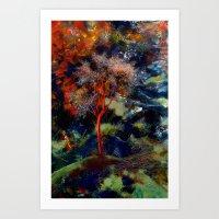 Yalnız Ağaç Art Print