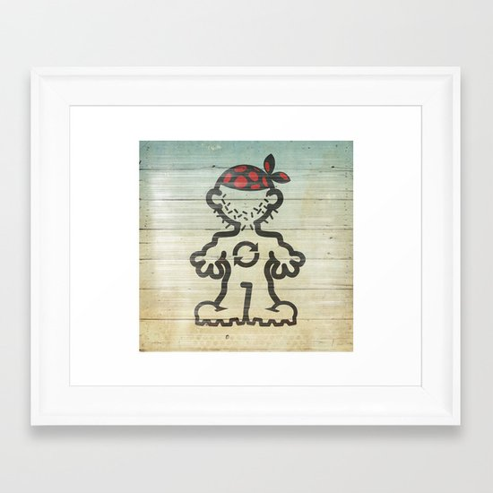 upcycle pirate Framed Art Print