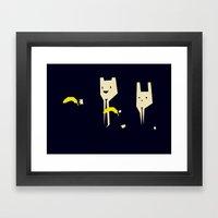 Pulp Banana Framed Art Print