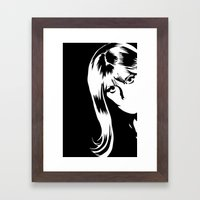 hold that pose! Framed Art Print