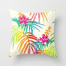 Bright Tropical  Throw Pillow