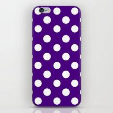 Polka Dots (White/Indigo) iPhone & iPod Skin