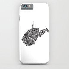 Typographic West Virginia Slim Case iPhone 6s