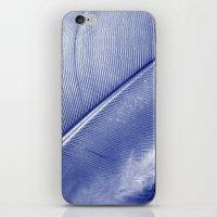 blue feather II iPhone & iPod Skin