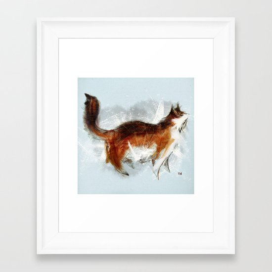 Ode to my Cat Framed Art Print