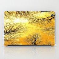 Black Trees Golden Sky iPad Case